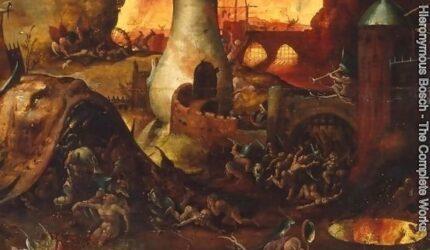 Scene fra Helvete, av Hieronymus Bosch. Kilde: Hieronymus Bosch Complete Works.