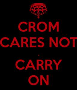 Meme om Crom og menneskelig handling.